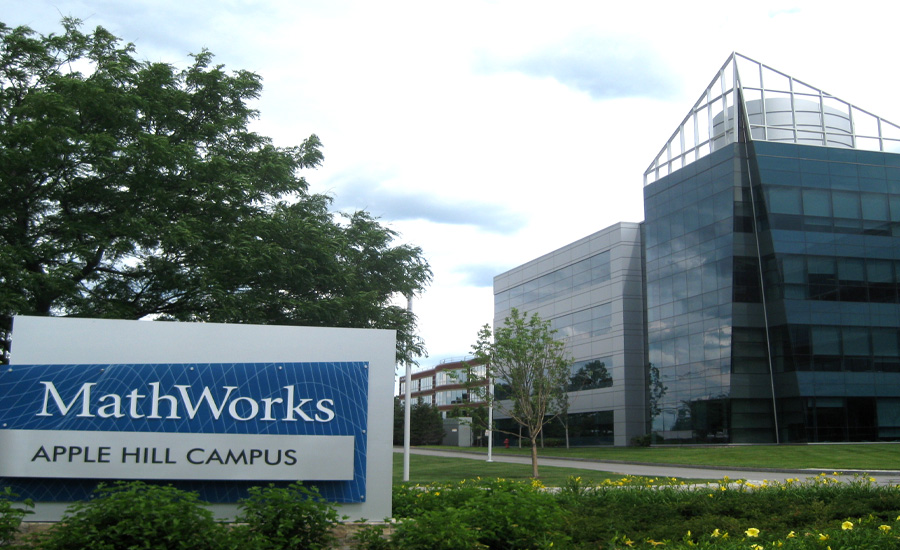 Math Works Building in Natick MA